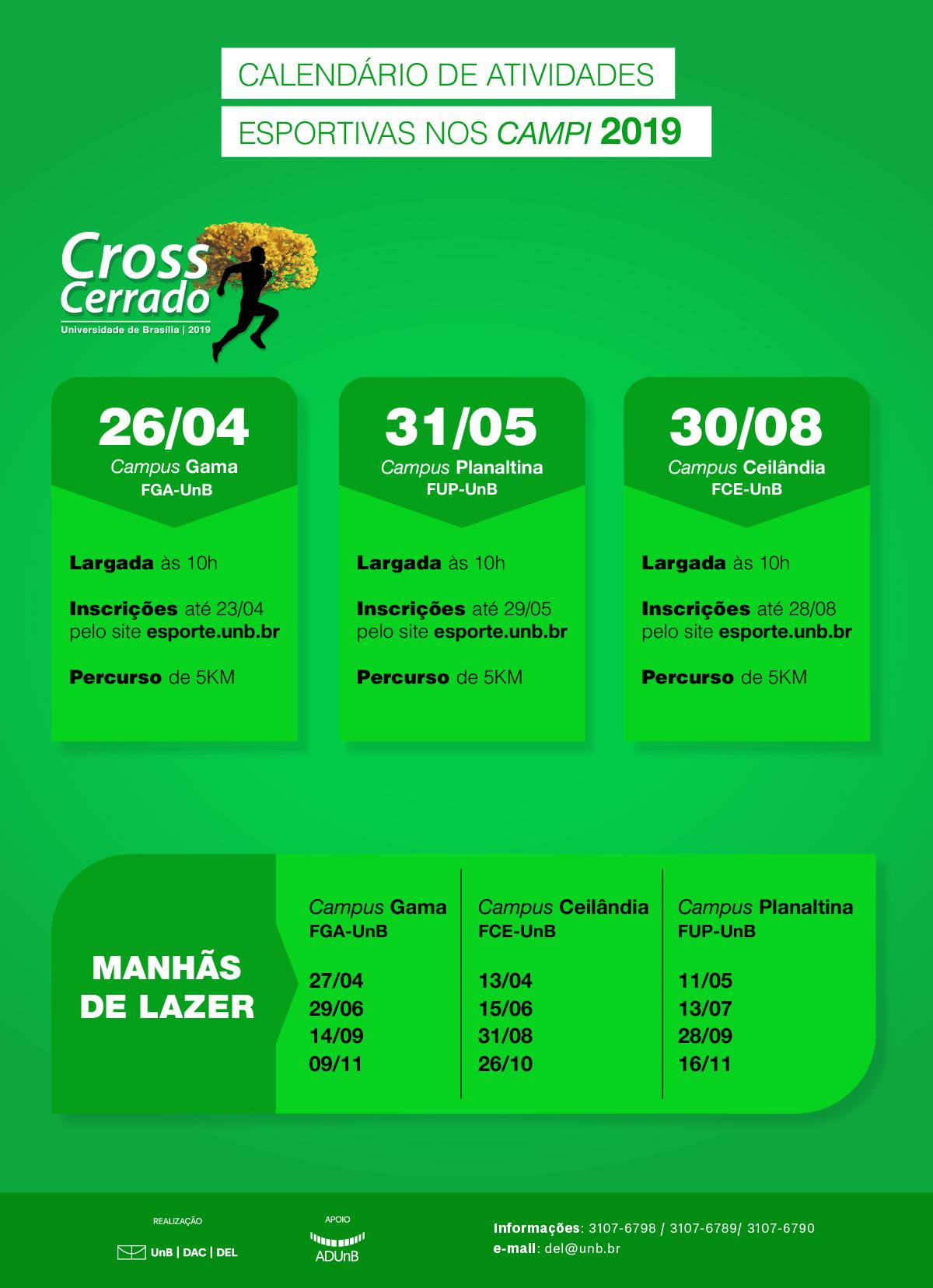 61c4c64b5874b Diretoria de Esporte e Lazer - DEL - Campi têm previsão de mais ...